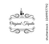original tequila. bottle of... | Shutterstock .eps vector #1049957792