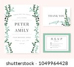 wedding invitation card with... | Shutterstock .eps vector #1049964428