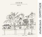 cochin  kochi   kerala  south...   Shutterstock .eps vector #1049971628