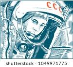 yuri gagarin  a soviet pilot... | Shutterstock .eps vector #1049971775
