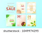 collection of social media... | Shutterstock .eps vector #1049974295