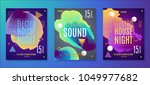 electronic music party poster.... | Shutterstock .eps vector #1049977682