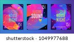 electronic music party poster.... | Shutterstock .eps vector #1049977688