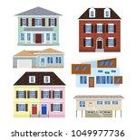 suburban houses cottage set on... | Shutterstock .eps vector #1049977736