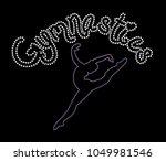 rhinestone applique print for... | Shutterstock .eps vector #1049981546