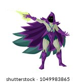 evil magician warlock | Shutterstock .eps vector #1049983865