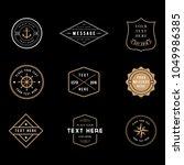 vintage badge logos   set of... | Shutterstock .eps vector #1049986385