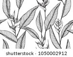 hawaiian pattern seamless... | Shutterstock .eps vector #1050002912