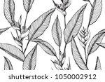 hawaiian pattern seamless... | Shutterstock .eps vector #1050002912