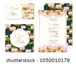 wedding marriage event... | Shutterstock .eps vector #1050010178