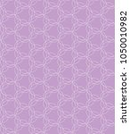 pink ornamental pattern | Shutterstock .eps vector #1050010982