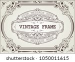 vintage frame with beautiful... | Shutterstock .eps vector #1050011615