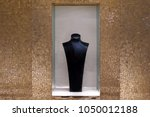 clear black mannequin in window ... | Shutterstock . vector #1050012188
