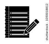 checklist icon  check list... | Shutterstock .eps vector #1050018812