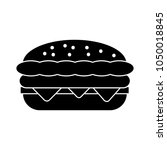burger sandwich illustration ... | Shutterstock .eps vector #1050018845