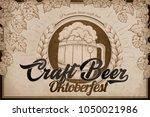 craft beer ads  retro engraving ... | Shutterstock .eps vector #1050021986