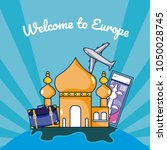travel and discover europe... | Shutterstock .eps vector #1050028745
