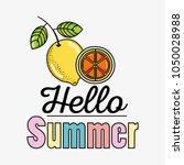 cute lemons summers cartoons | Shutterstock .eps vector #1050028988