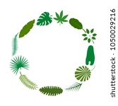 tropical palm leaves green... | Shutterstock .eps vector #1050029216