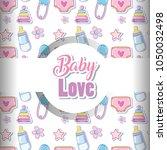 baby love pattern background   Shutterstock .eps vector #1050032498