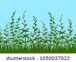 seamless horizontal background  ...   Shutterstock . vector #1050037022