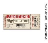 theater ticket in retro style.... | Shutterstock .eps vector #1050045242