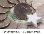 a quarter of kansas  quarters... | Shutterstock . vector #1050045986