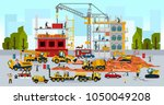 construction site  the work of... | Shutterstock .eps vector #1050049208