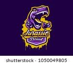 logo  sticker  dinosaur and its ...   Shutterstock .eps vector #1050049805