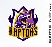 logo  badge  sticker  dinosaur... | Shutterstock .eps vector #1050049826