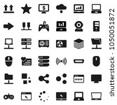 flat vector icon set   notebook ... | Shutterstock .eps vector #1050051872