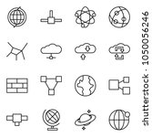 flat vector icon set   globe... | Shutterstock .eps vector #1050056246