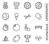 flat vector icon set   medal... | Shutterstock .eps vector #1050056492
