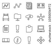 flat vector icon set   graph... | Shutterstock .eps vector #1050056972