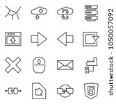 flat vector icon set   network... | Shutterstock .eps vector #1050057092