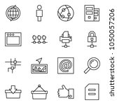 flat vector icon set   globe... | Shutterstock .eps vector #1050057206
