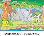 creative hide and seek game by... | Shutterstock .eps vector #105005912