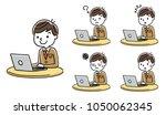 male student  internet ...   Shutterstock .eps vector #1050062345