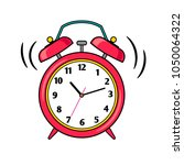 alarm clock. cartoon red... | Shutterstock .eps vector #1050064322