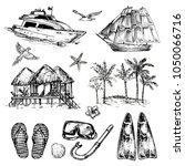 hand drawn sketch illustration... | Shutterstock .eps vector #1050066716
