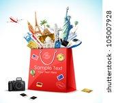 illustration of shopping bag... | Shutterstock .eps vector #105007928