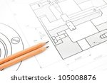 pencils on the drawing . | Shutterstock . vector #105008876