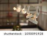 white hanging spotlight soft... | Shutterstock . vector #1050091928