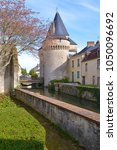 Small photo of Keep of the fortified gate Saint-Julien on the Huisne river at La-Ferté-Bernard, a commune in the Sarthe department in the Pays de la Loire region in north-western France.