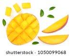Half Of Mango Fruit Decorated...