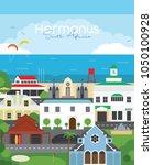 hermanus south african... | Shutterstock . vector #1050100928