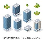 set of modern isometric... | Shutterstock . vector #1050106148