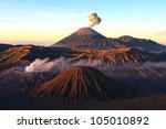 volcanoes of bromo national... | Shutterstock . vector #105010892