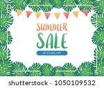 summer sale background banner ... | Shutterstock .eps vector #1050109532