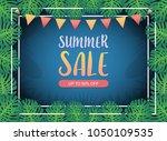 summer sale background banner ... | Shutterstock .eps vector #1050109535